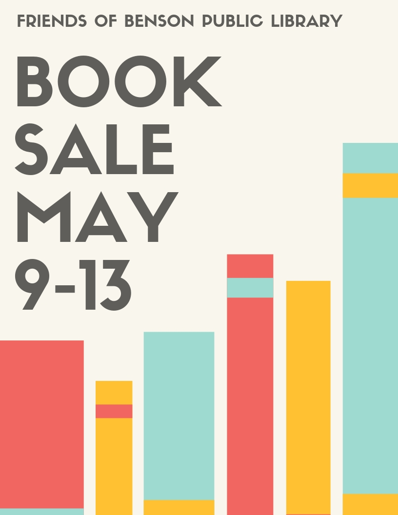 The Friends of the Library are having their biannual giant book sale from May 9 through 13. We have a variety of books. Free will donation.