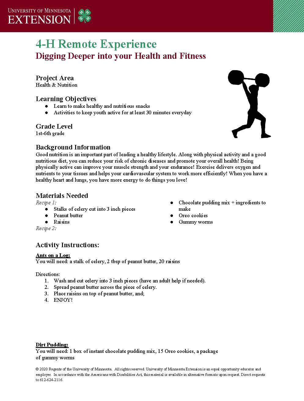 Join Swift County 4-H for a fitness and fun experience this summer!